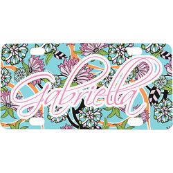 Summer Flowers Mini / Bicycle License Plate (Personalized)