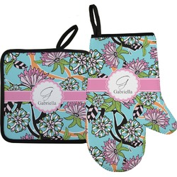 Summer Flowers Oven Mitt & Pot Holder (Personalized)