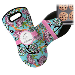 Summer Flowers Neoprene Oven Mitt (Personalized)