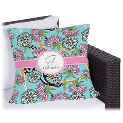 Summer Flowers Outdoor Pillow (Personalized)