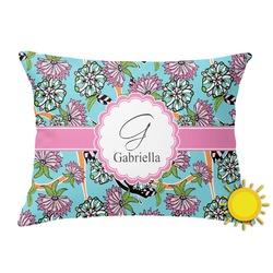 Summer Flowers Outdoor Throw Pillow (Rectangular) (Personalized)