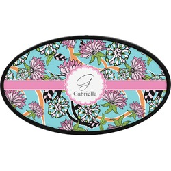 Summer Flowers Oval Trailer Hitch Cover (Personalized)