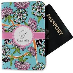 Summer Flowers Passport Holder - Fabric (Personalized)
