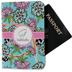 Summer Flowers Passport Holder - Fabric (Personalized)