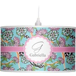 Summer Flowers Drum Pendant Lamp (Personalized)