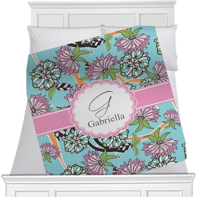 Summer Flowers Minky Blanket (Personalized)
