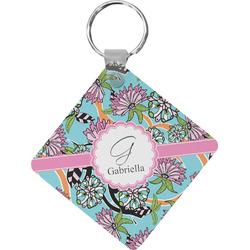 Summer Flowers Diamond Key Chain (Personalized)