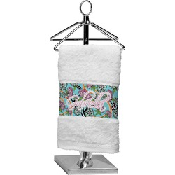 Summer Flowers Cotton Finger Tip Towel (Personalized)