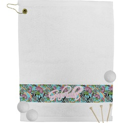 Summer Flowers Golf Towel (Personalized)