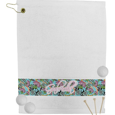 Summer Flowers Golf Bag Towel (Personalized)