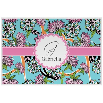Summer Flowers Laminated Placemat w/ Name and Initial