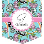 Summer Flowers Iron On Faux Pocket (Personalized)