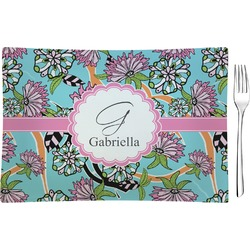 Summer Flowers Rectangular Appetizer / Dessert Plate (Personalized)