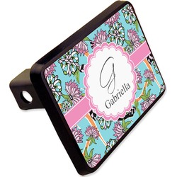 "Summer Flowers Rectangular Trailer Hitch Cover - 2"" (Personalized)"