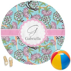 Summer Flowers Round Beach Towel (Personalized)