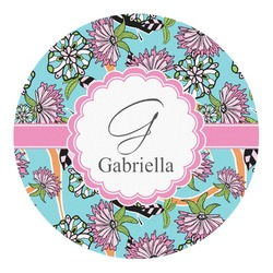 Summer Flowers Round Decal - Custom Size (Personalized)