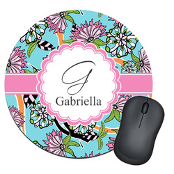 Summer Flowers Round Mouse Pad (Personalized)