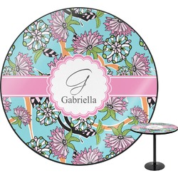Summer Flowers Round Table (Personalized)
