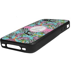 Summer Flowers Rubber iPhone Case 4/4S (Personalized)