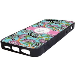 Summer Flowers Rubber iPhone 5/5S Phone Case (Personalized)