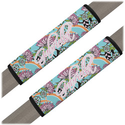 Summer Flowers Seat Belt Covers (Set of 2) (Personalized)
