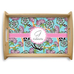 Summer Flowers Natural Wooden Tray (Personalized)