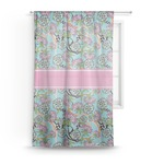 Summer Flowers Sheer Curtains (Personalized)