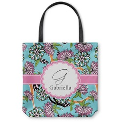 Summer Flowers Canvas Tote Bag (Personalized)