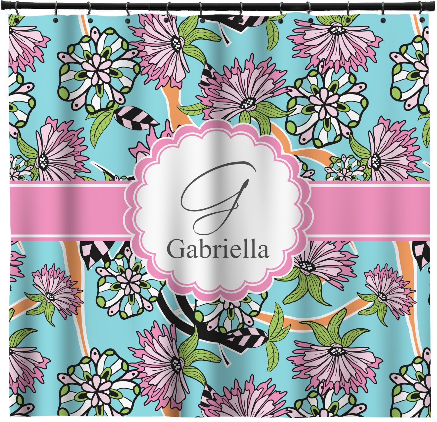 Summer Flowers Shower Curtain 69 X70 Personalized Youcustomizeit