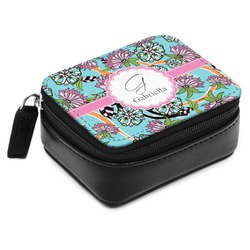 Summer Flowers Small Leatherette Travel Pill Case (Personalized)