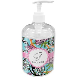 Summer Flowers Soap / Lotion Dispenser (Personalized)