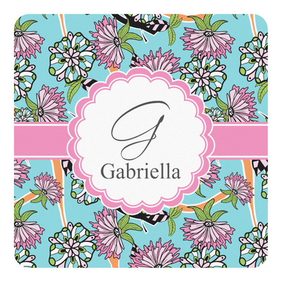 Summer Flowers Square Decal (Personalized)