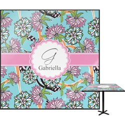 Summer Flowers Square Table Top (Personalized)