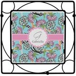 Summer Flowers Square Trivet (Personalized)