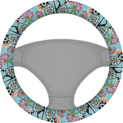 Summer Flowers Steering Wheel Cover (Personalized)