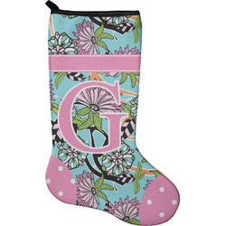 Summer Flowers Holiday Stocking - Single-Sided - Neoprene (Personalized)