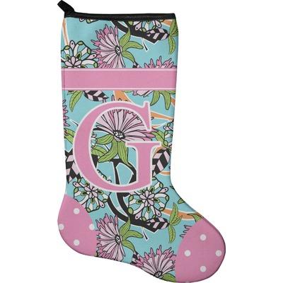 Summer Flowers Holiday Stocking - Neoprene (Personalized)