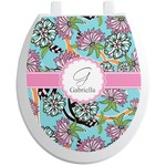 Summer Flowers Toilet Seat Decal (Personalized)