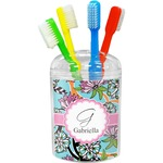 Summer Flowers Toothbrush Holder (Personalized)