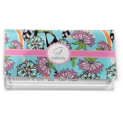 Summer Flowers Vinyl Checkbook Cover (Personalized)