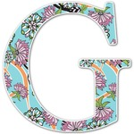 Summer Flowers Letter Decal - Custom Sizes (Personalized)