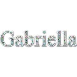 Summer Flowers Name/Text Decal - Custom Sized (Personalized)