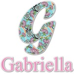 Summer Flowers Name & Initial Decal - Custom Sized (Personalized)