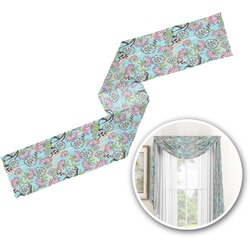 Summer Flowers Window Sheer Scarf Valance (Personalized)