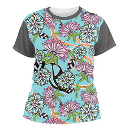 Summer Flowers Women's Crew T-Shirt (Personalized)