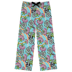Summer Flowers Womens Pajama Pants (Personalized)