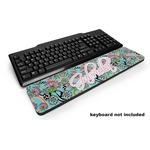 Summer Flowers Keyboard Wrist Rest (Personalized)