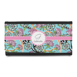Summer Flowers Leatherette Ladies Wallet (Personalized)