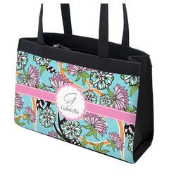 Summer Flowers Zippered Everyday Tote (Personalized)