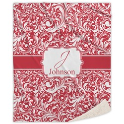 Swirl Sherpa Throw Blanket (Personalized)
